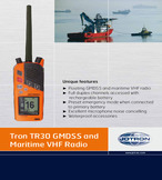 Tron tr30 gmdss and maritime vhf radio
